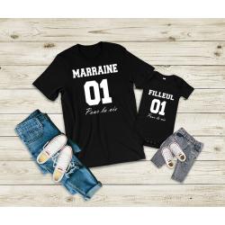 T-shirt marraine 01 pour la...