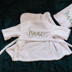 Peignoir + serviette bébé...